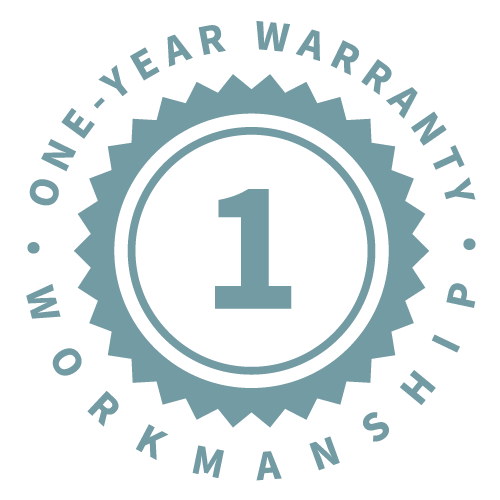 1-Year Workmanship Warranty
